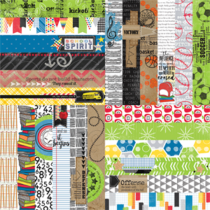 """Picture of It's a Kid's World by Lauren Hinds 2"""" Border Strips - School and Sports - Set 12"""